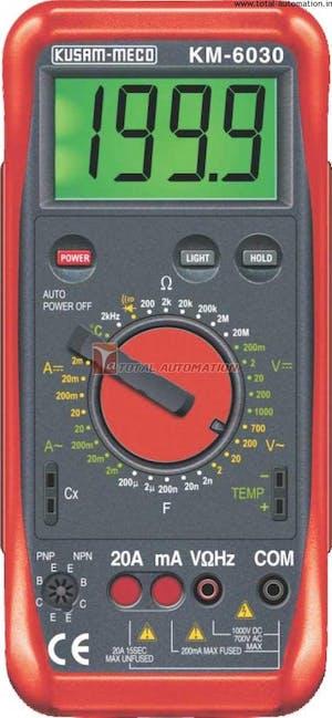Kusam Meco KM 6030 Digital Multimeter 3-1/2 Digit 2000 Counts
